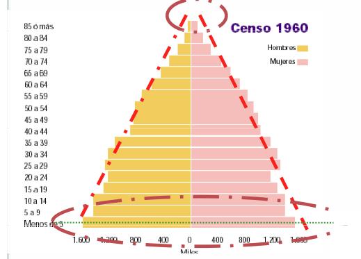 Evolución de la población - 1960 - IPFE