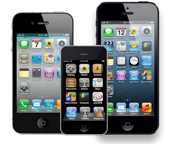 Iphone 5, 4 y Mini - Montaje sobre imagen de Movilzona