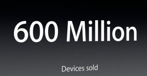 600 millones iOS vendidos - Apple