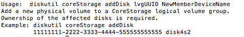 CoreStorage addDisk