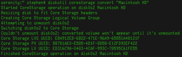 CoreStorage Convert - Stephen Foskett